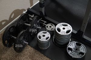 Dumbbell sets, weights, Handles (many plates available) for Sale in Phoenix, AZ