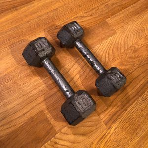 10 Pound Hex Dumbbells Pair for Sale in Dallas, TX