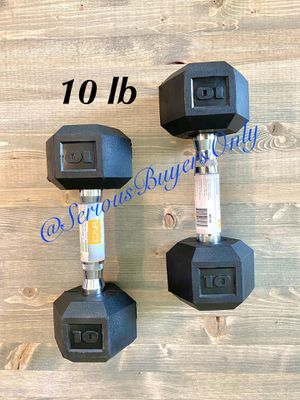 Pair of 10 lb dumbbell weights (gym and exercise equipment fitness) for Sale in Fontana, CA