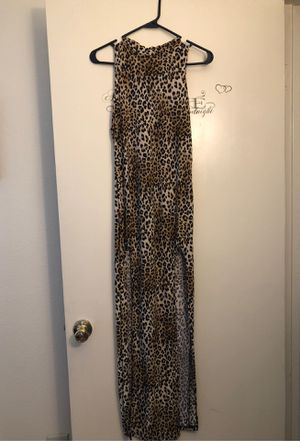 Cheetah print dress (2 splits on side) for Sale in Ontario, CA