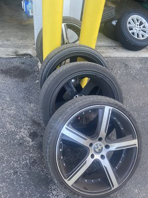 """20"""" bmw rims and wheels 5X120 /74.1mm 400$ for Sale in Miami, FL"""