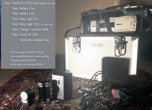 Canon GL2 Camcorder NTSC.Mini DV Prof. + 2Lights + 2Batteries + Case . Condition(Excellent Used). for Sale in Long Beach, CA