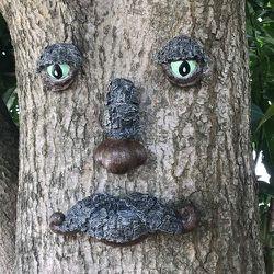 Old Man Tree Face Sculpture, Whimsical Tree Hugger Garden Peeker Yard Art Sculpture - Suitable for Outdoor & Garden Decor for Sale in Tulsa,  OK