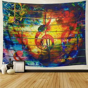 Music Tapestry Colorful Musical Note Tapestry Wall Hanging Psychedelic Bohemian Mandala Decor for Bedroom Living Room Dorm for Sale in Glendora, CA
