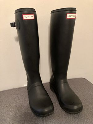Hunter black rain boots for Sale in Hollywood, FL