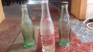 Pepsi-cola and coca cola bottles 3 for $5 Antiques for Sale in Philadelphia, PA