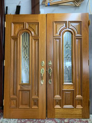 Double Door 32x80 Wood with Glass for Sale in Miami, FL