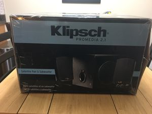 Klipsch Promedia 2.1 speakers for Sale in Hilliard, OH