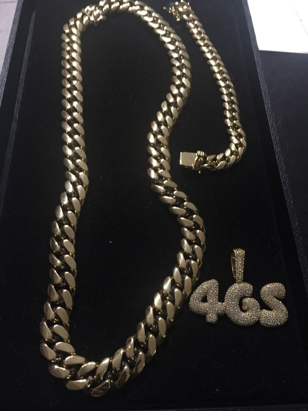 Black Friday Sale!! 14KT Gold Filled Cuban Chain and Bracelet. All sizes available!! Best Top Quality!! We do custom work!!