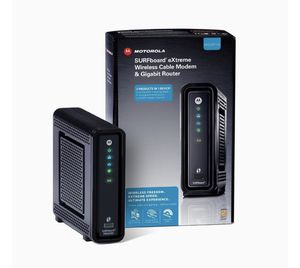 Motorola surfboard SBG6580 modem AND WiFi router combined! How easy! for Sale in Portland, OR