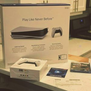 NEW Sony PS5 Playstation 5 Disc + Spiderman Ultimate +Extra Controller for Sale in Philadelphia, PA