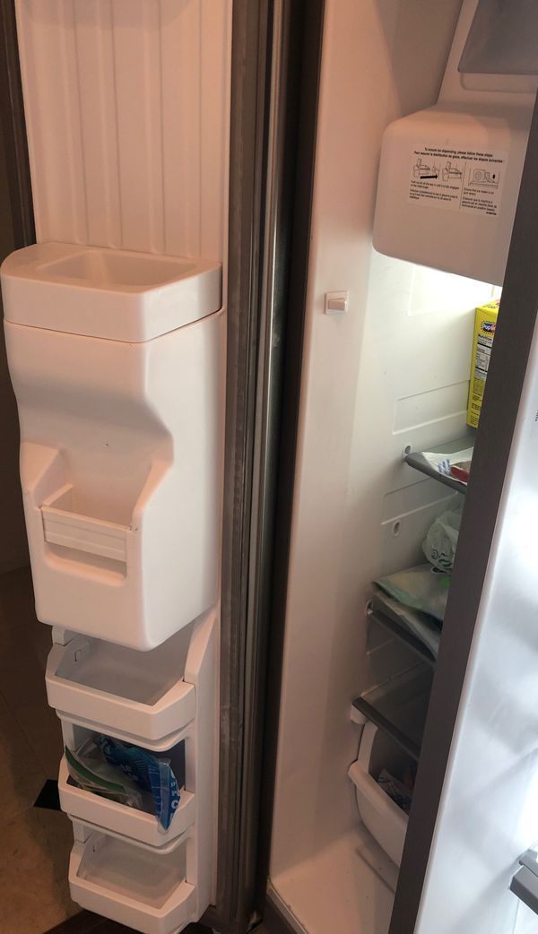 Less than a year old, whirlpool fridge.
