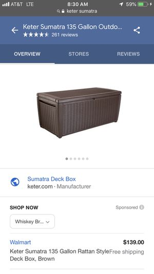 Deck/outdoor box for Sale in Auburn, WA