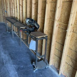 Chop Saw With 12 Foot Table for Sale in Tempe, AZ
