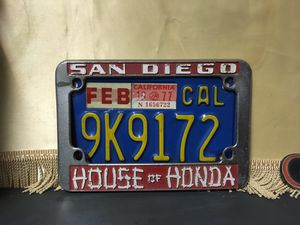 Vintage 1970s? Honda motorcycle license plate frame for Sale in Gardena, CA