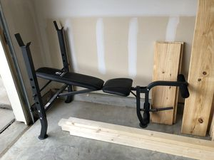 Marcy workout bench with weights for Sale in Aubrey, TX