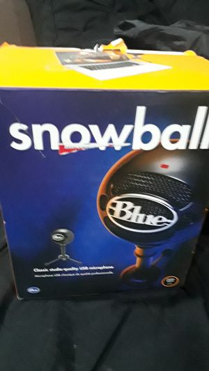 Snowball mic. Used. Works fine for Sale in Tracy, CA