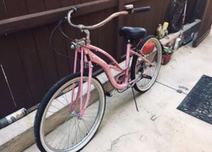 Schwinn Roxie girls women's womens beach cruiser bike bicycle mtb fixie cruzer BMX ride pink springer fork worksman seat for Sale in San Diego, CA