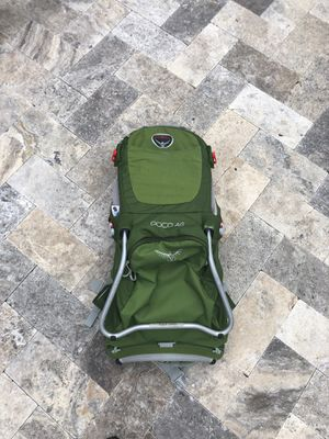 Osprey, child carrier hiking backpack for Sale in Fort Lauderdale, FL