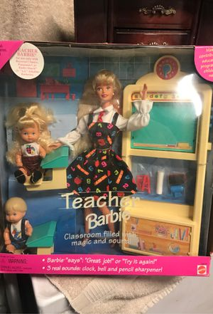 Never opened! Vintage teacher Barbie for Sale in Colton, CA