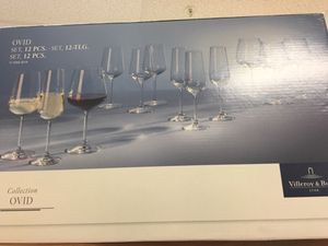 Villeroy boch wine glasses collection for Sale in Fort Belvoir, VA