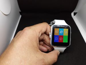 New white smartwatch with HD camera internet explorer facebook get calls and texts and much more for Sale in Clackamas, OR