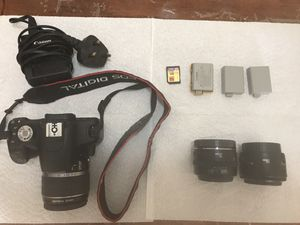Cannon 500D with two lens for Sale in Rockville, MD