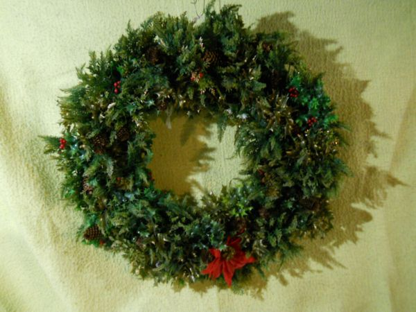 Large Custom Made Christmas Wreath 36 inches.