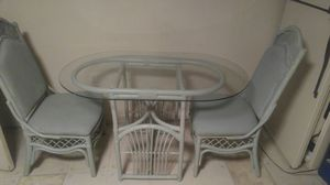 Glass Top Table and 2 Wicker Chair Set. for Sale in Frederick, MD