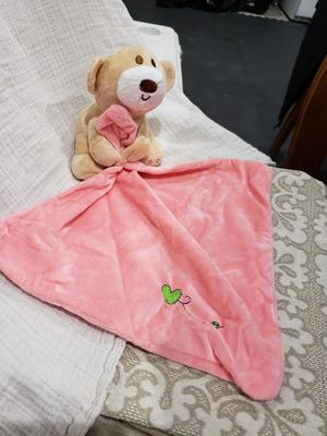 Plush bear with blankie stocking stuffer for Sale in Rogersville, MO