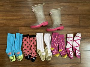 American Girl Wellie Wishers boots and socks for Sale in Miami, FL