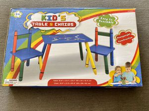 Kids table and two chairs for Sale in Adelanto, CA
