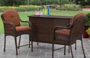 New!! 3pc bar set, orange, outdoor bar, patio bar set, patio furniture for Sale in Phoenix, AZ