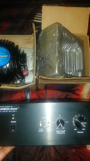 2 buttkickers and butkicker power amplifier bka1000-4 for Sale in Washington, DC