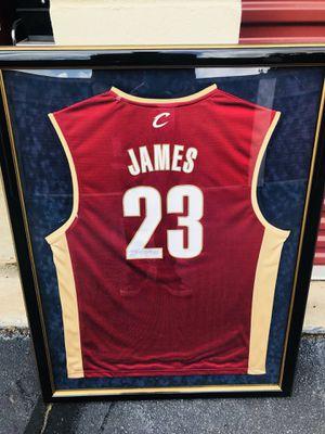LEBRON JAMES signed Rookie Jersey Framed Cleveland for Sale in Atlanta, GA