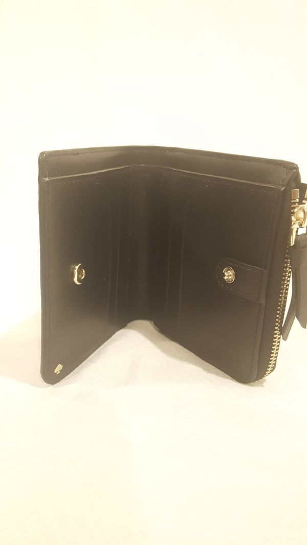 Kate Spade Cameron Small L Zip Bifold Warmbeige Black