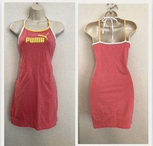 Adorable pink & yellow Puma Jersey material dress. for Sale in Las Vegas, NV