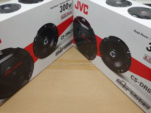 Car speakers: JVC ( 2 pairs ) 6.5 inch 2 way 300 watts car speakers Brand new for Sale in Bell Gardens, CA