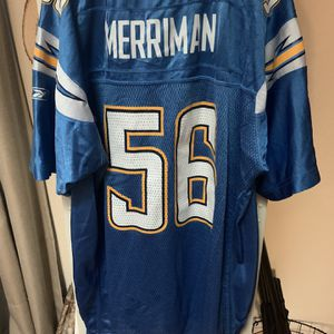 San Diego Chargers Football Jersey Shawne Merriman Youth Xl Reebok Lights Out for Sale in Everett, WA