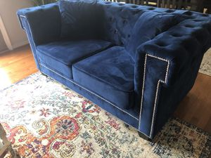 Blue Loveseat/Couch for Sale in Harpers Ferry, WV