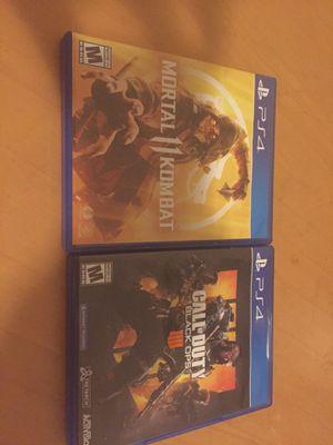 Mortal Kombat 11 Black Ops 4 PS4 for Sale in Oakland, CA