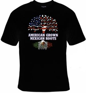 American Grown, Mexican Roots T-Shirt for Sale in Newman, CA