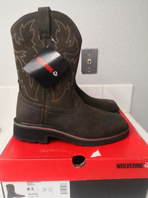 Brand new wolverine soft toe work boots size 8.5 for Sale in Riverside, CA