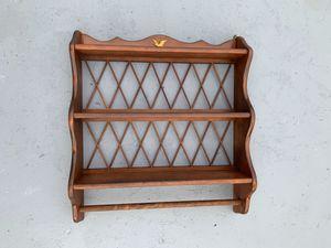 """Vintage Wooden Shelves Rag/Towel-Holder Bald-Eagle Furniture (24""""x21"""") for Sale in Dade City, FL"""