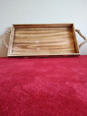 Brand New Home Decor Wood Tray w/Rope Handle (20x12) 🙏🏼 Please Read Description 👀 for Sale in North Las Vegas, NV