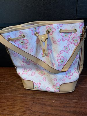 Louis Vuitton Cherry Blossom Collection Drawstring Tote, Coin Purse Attachment and Extension Straps for Sale in Rockville, MD