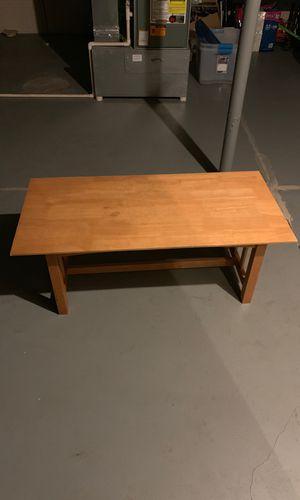 Wood coffee table for Sale in Elk Run Heights, IA