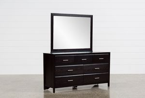 Large black dresser with mirror for Sale in Los Angeles, CA