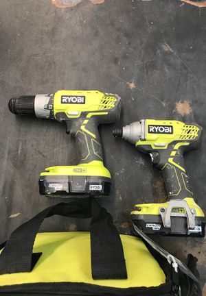 Ryobi drill set with two batteries for Sale in Winter Garden, FL