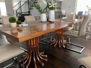Jonathan Adler Rose Gold Dining Table + Floor Lamp for Sale in Houston, TX
